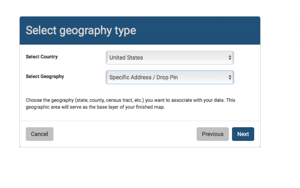 Select geography type